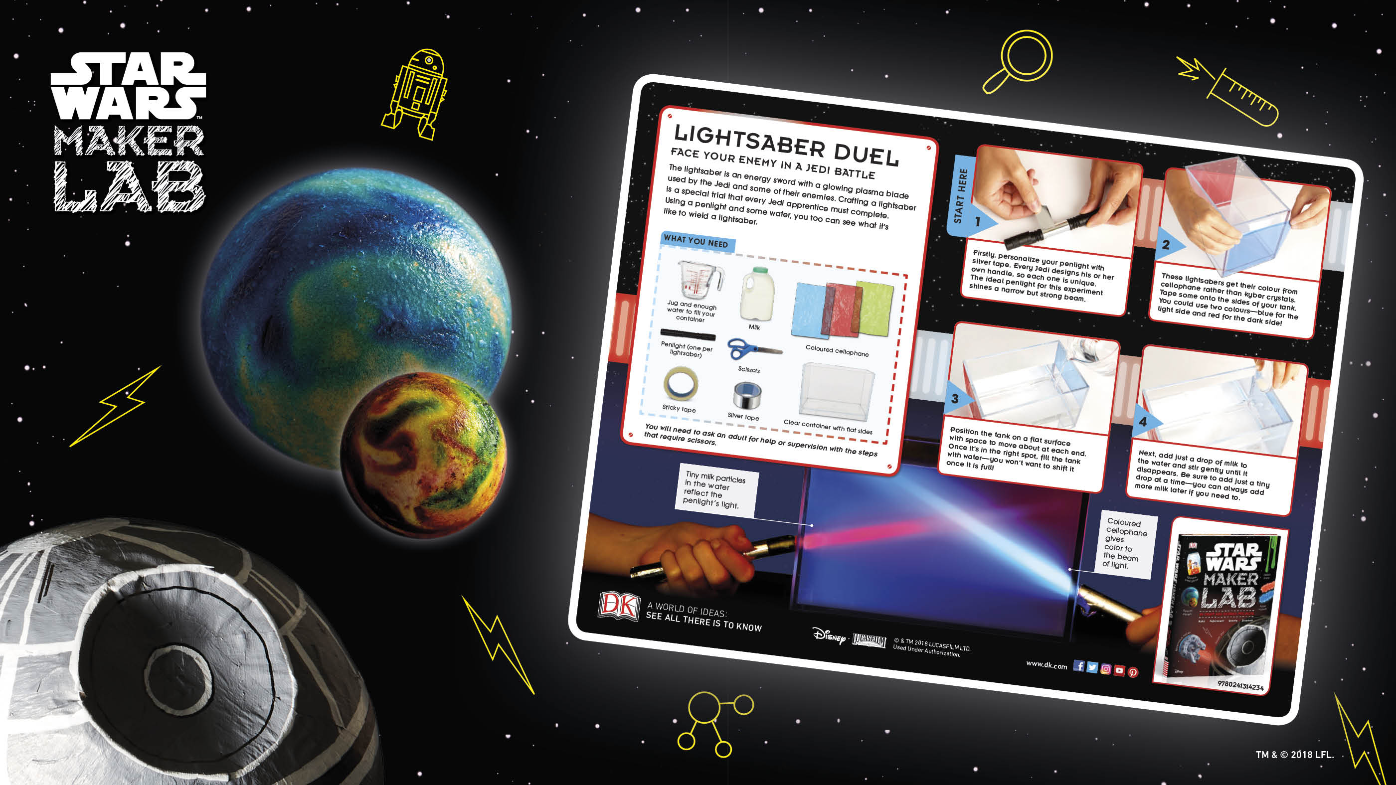 Star Wars Maker Lab: Make a Lightsaber Activity Sheet