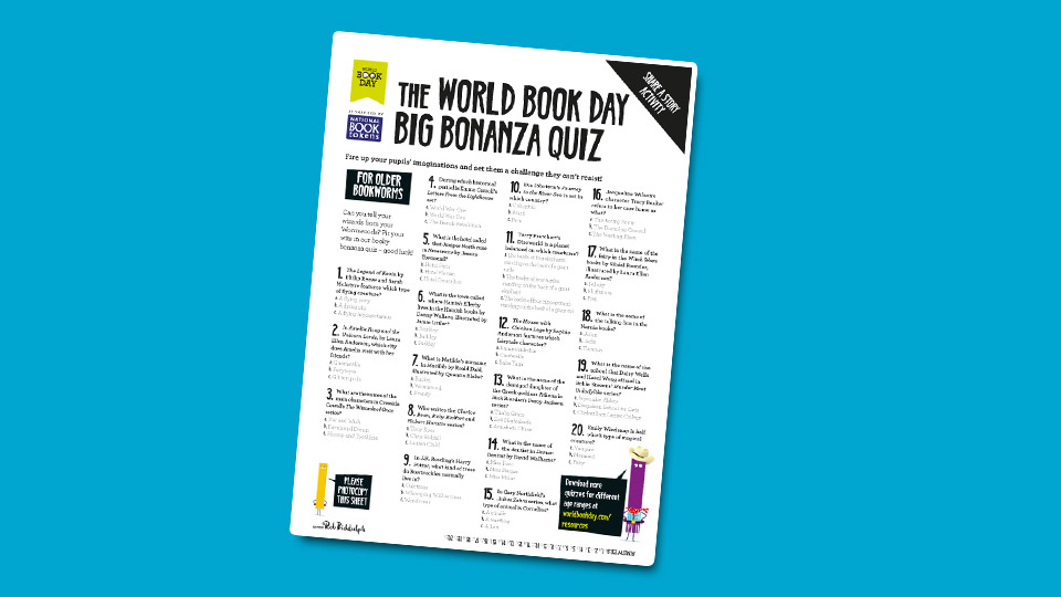 WBD Quiz for Older Bookworms
