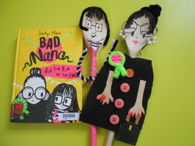 Bad Nana by Sophy Henn (made by Kings Hall Scholl Library)