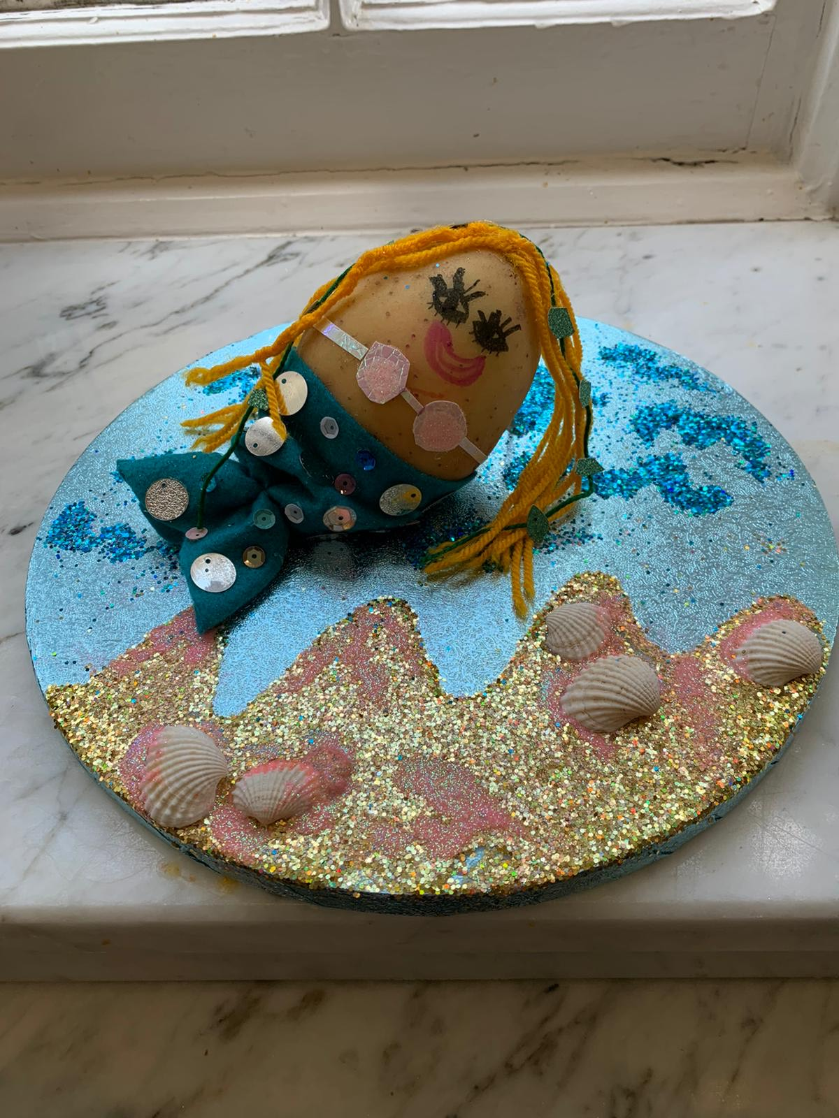The Singing Mermaid by Julia Donaldson & Lydia Monks (made by Ava)