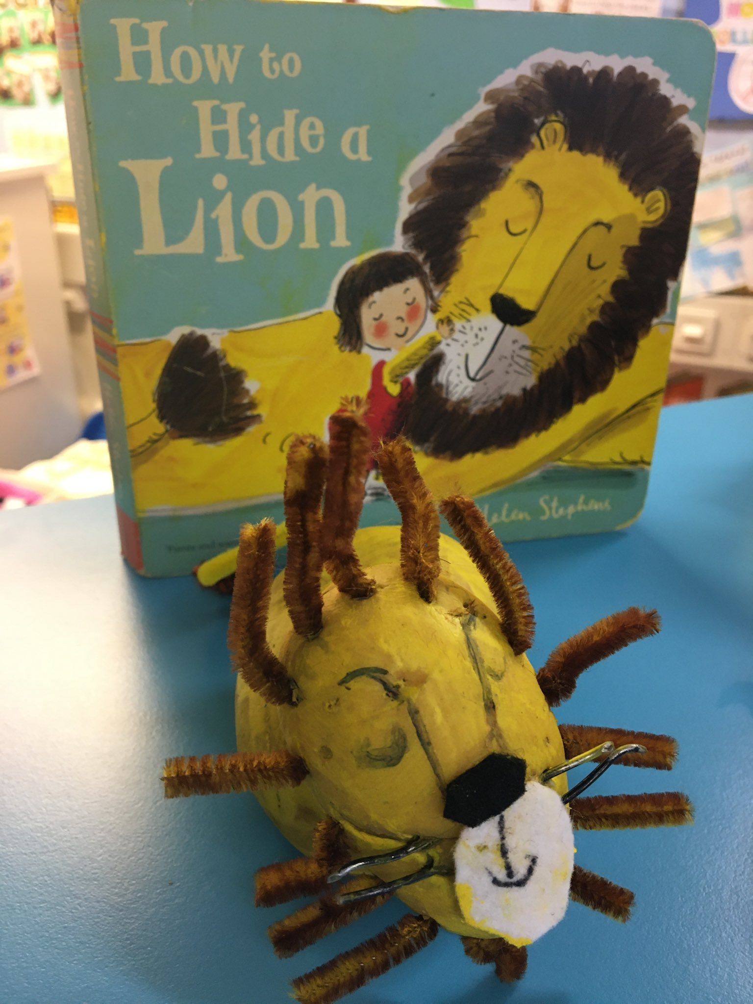 How to Hide a Lion by Helen Stephens (made by Westmeads Infant School)