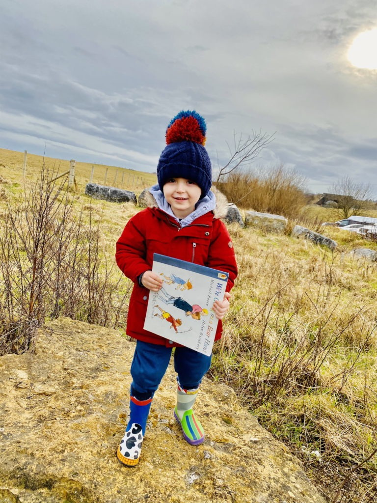 Olly and his book are on an adventure!
